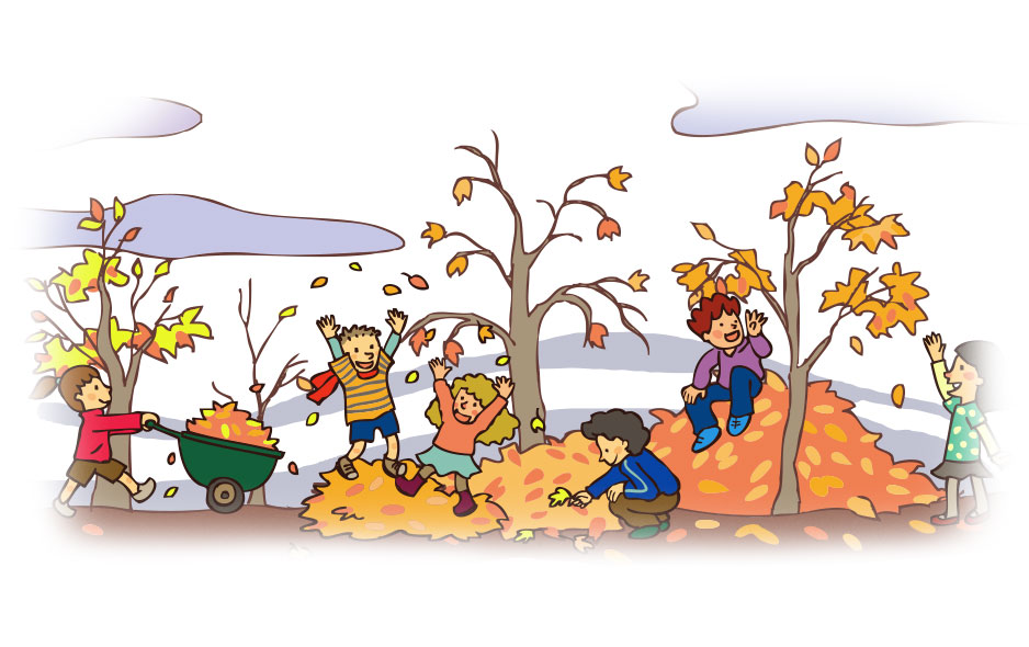 Image result for kids playing in fall leaves