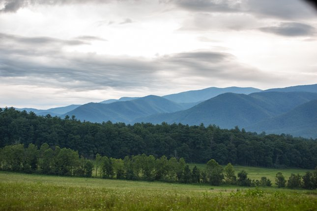 Cades Cove on an Overcast Day