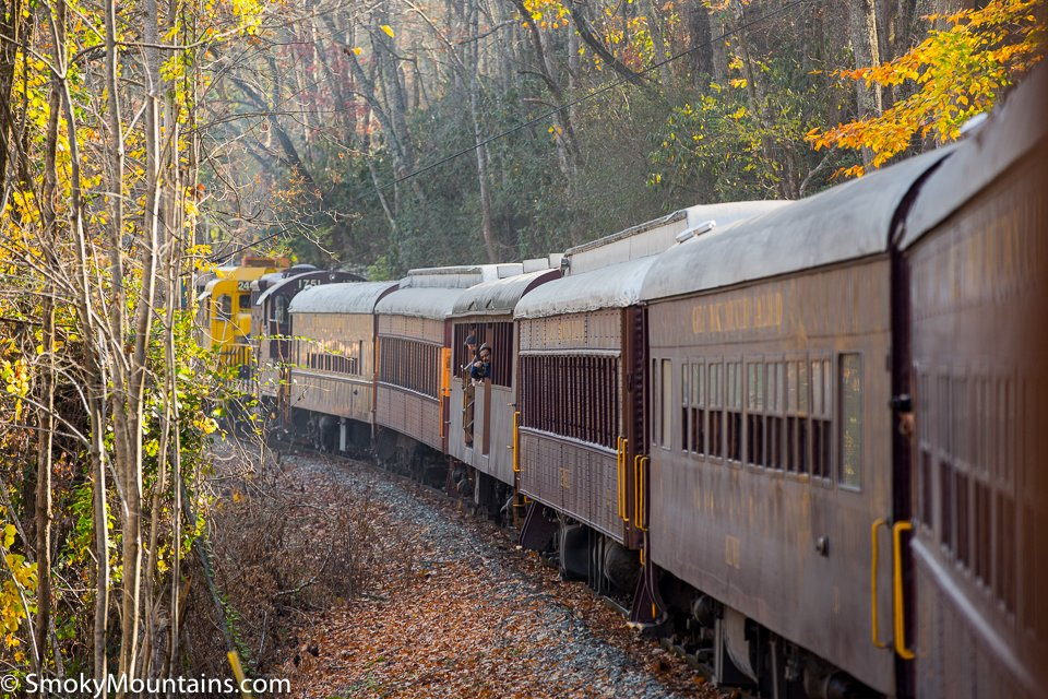 The Great Smoky Mountains Railroad (formerly Railway) owns 53 miles (85 kilometers) of the Murphy Branch, a former branch line of the Southern Railway between Dillsboro and Andrews. The line was completed to Dillsboro in and reached Andrews in