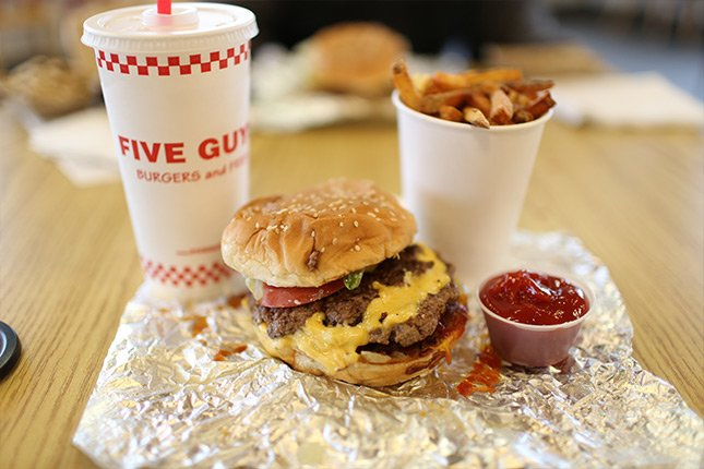 Complete meal at Five Guys Pigeon Forge