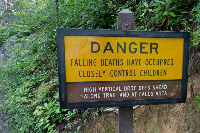 Sign Near Laurel Falls