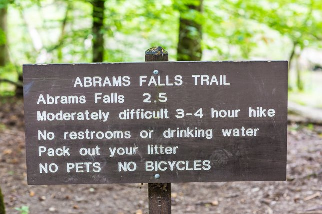 National Park Hikes - Abrams Falls Trail - Original Photo
