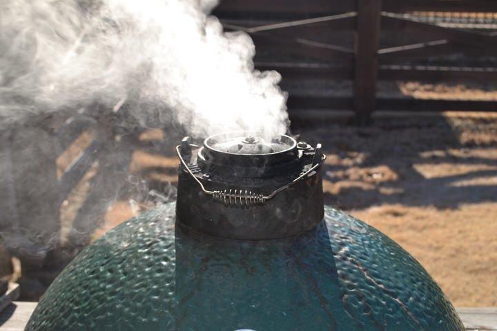 green egg cooker smoking
