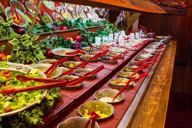Huge Bennett's Salad Bar