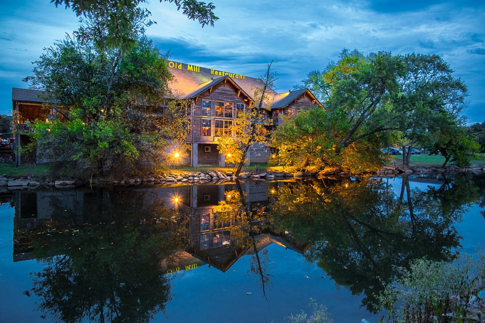 The Old Mill for Valentine's Day Dinner in the Smoky Mountains