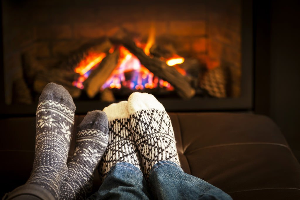 Couple by Fireplace at Smoky Mountains Valentine's Day Getaway