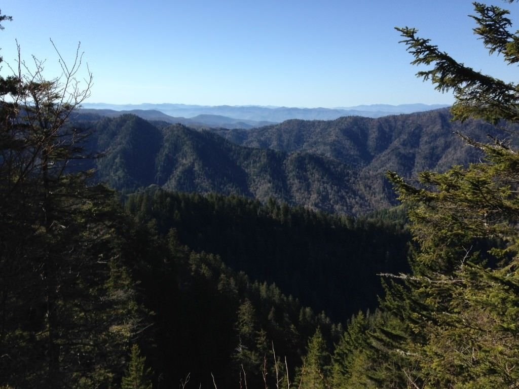 Beautiful views from peak of mount leconte
