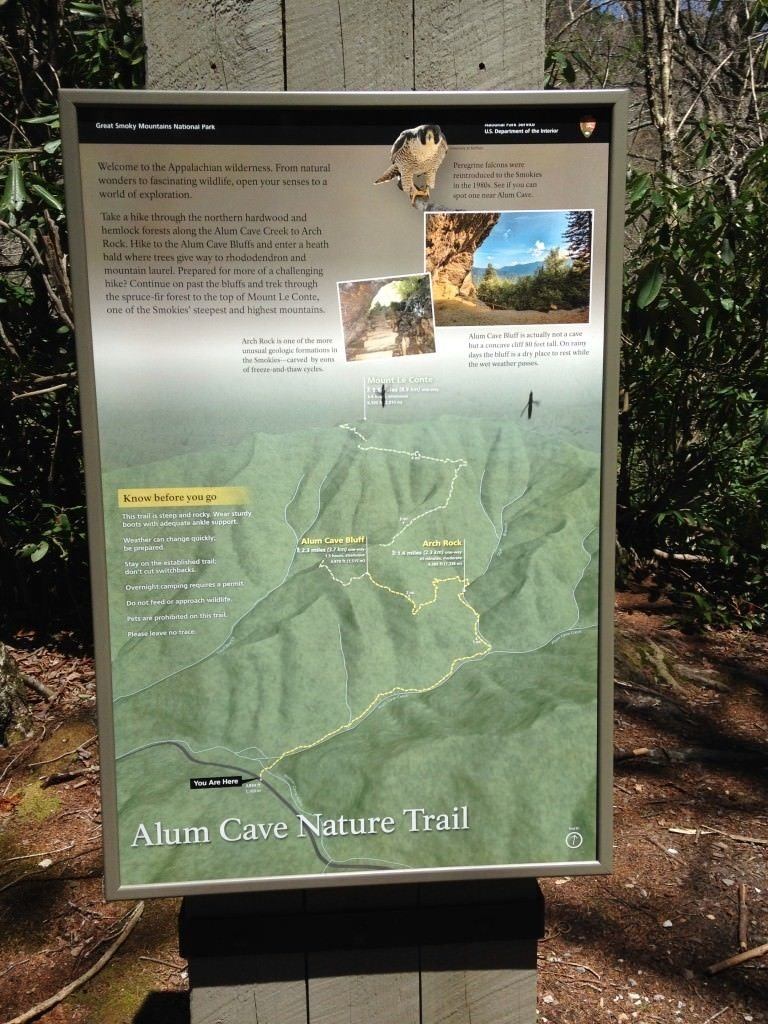 Alum Cave Trailhead Map