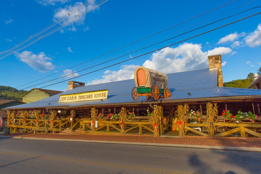 Gatlinburg Restaurants - Log Cabin Pancake House in Gatlinburg, TN - Original Photo