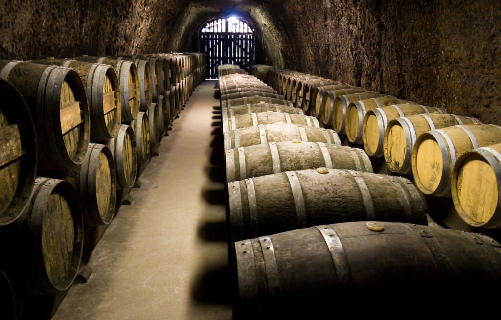 Wine barrels at Sugarlands Winery