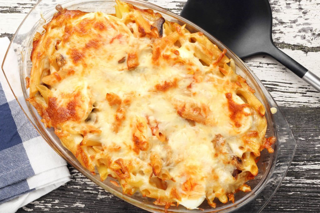 Casserole of macaroni and cheese