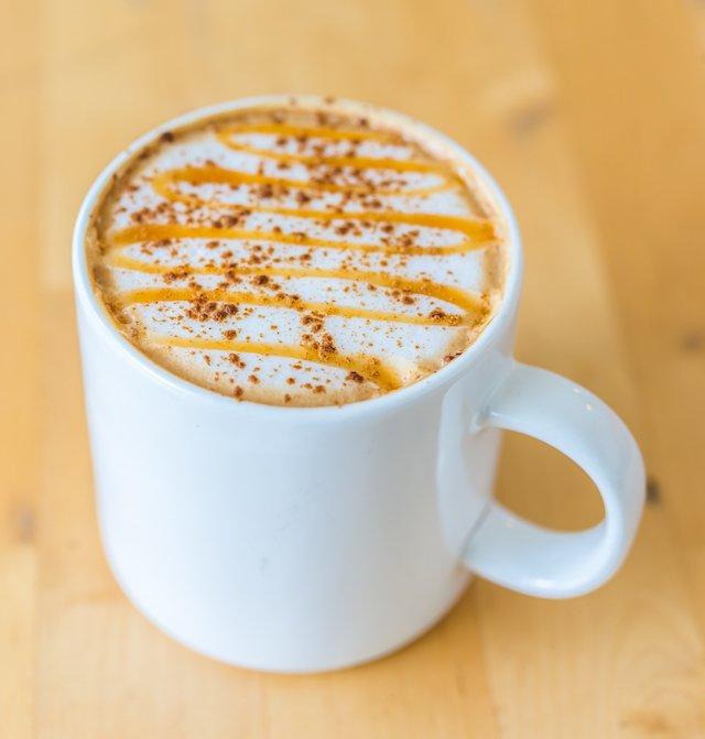 Hot caramel coffee
