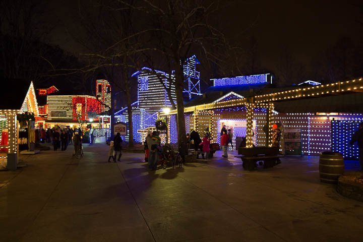 Pigeon Forge Things To Do - Dollywood Christmas Lights - Original Photo