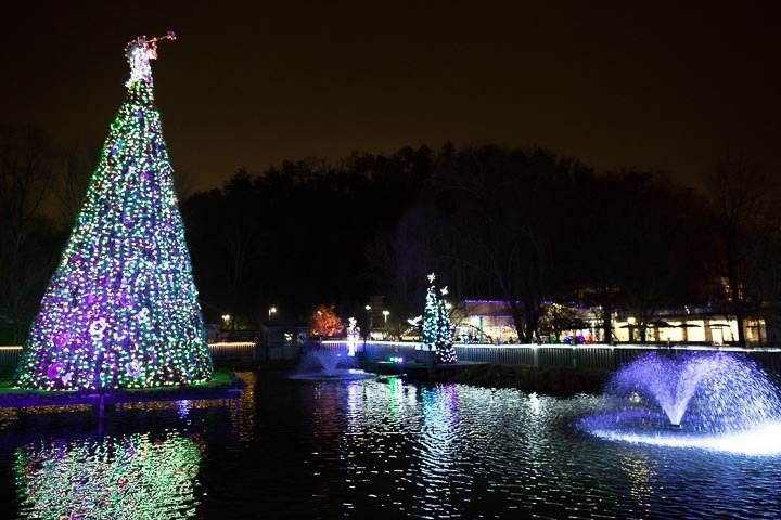dollywood christmas lights pigeon forge attraction pigeon forge tn - Christmas Light Tree
