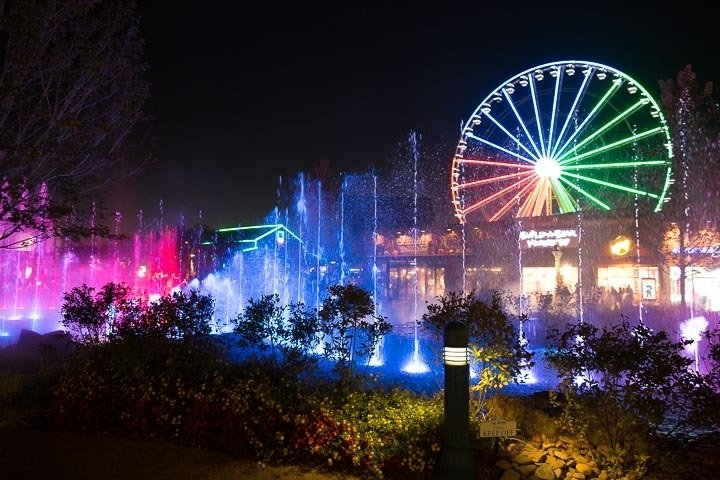 The Island Water Light Show In Pigeon Forge