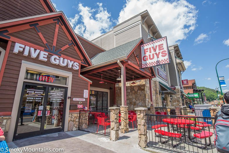 Five Guys by Space Needle in Gatlinburg
