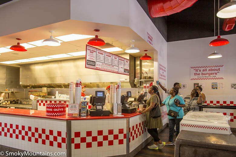 Customers at Five Guys Gatlinburg TN