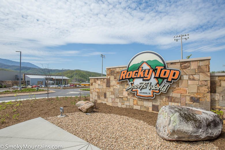 Rocky Top Sports World Sign