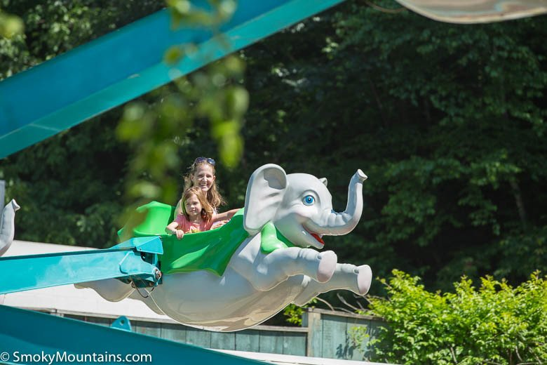 Dollywood Rides - Amazing Flying Elephants - Original Photo