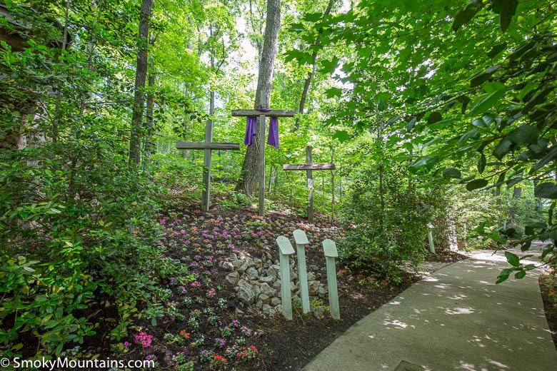 Crosses at Parrot Mountain in Pigeon Forge