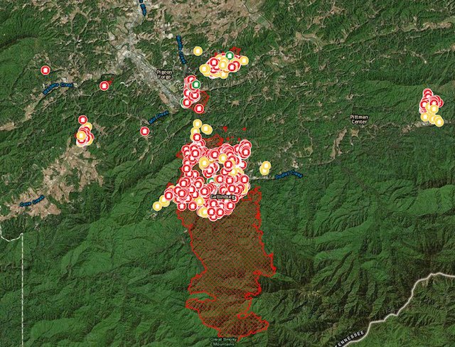 Smoky Mountain Wildfire Map