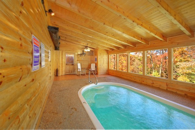 Luxury Indoor Pool Cabin in Pigeon Forge
