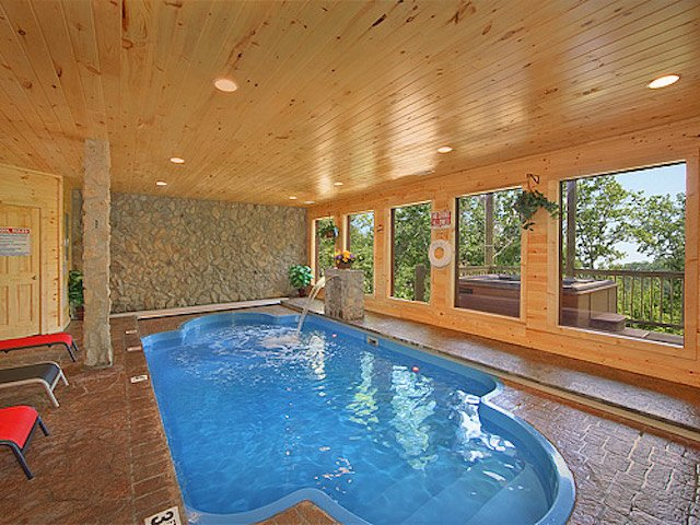Splashing Sunrise Indoor Pool Cabin