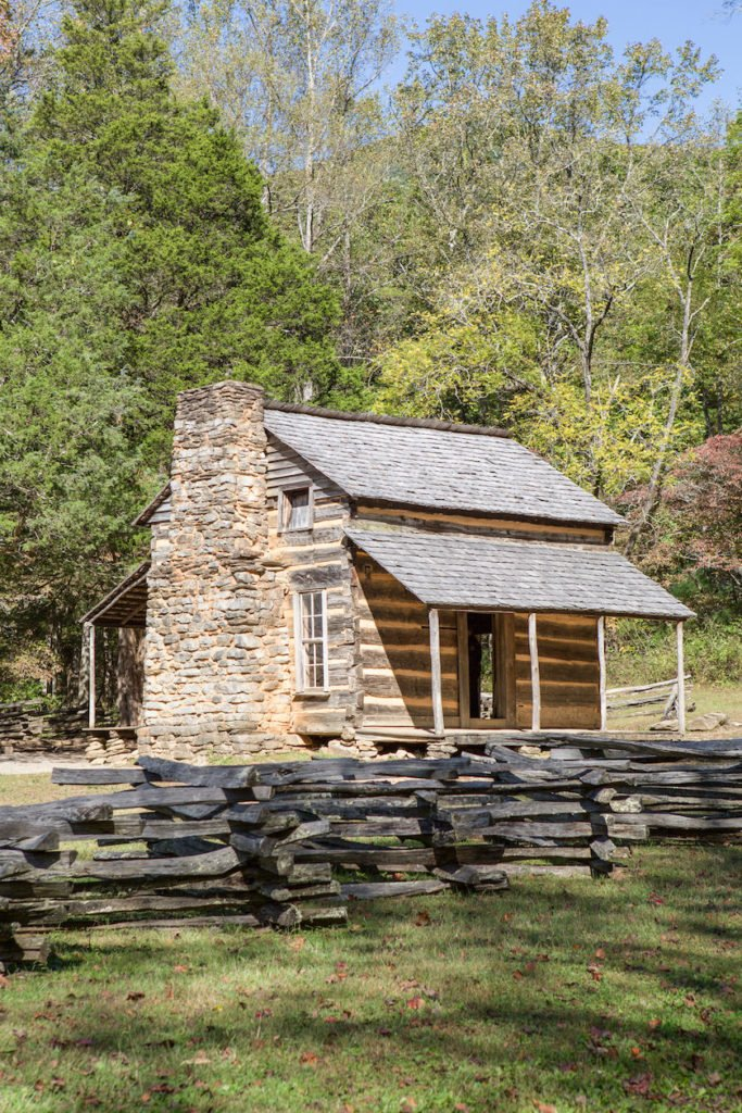 National Park Cades Cove - John Oliver Historical Cabin - Original Photo