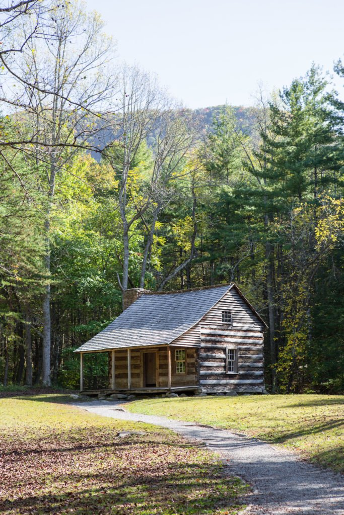 National Park Cades Cove - Carter Shields Cabin Historical Structure - Original Photo