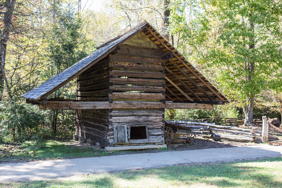 National Park Cades Cove - Cades Cove Historic Corn Crib - Original Photo