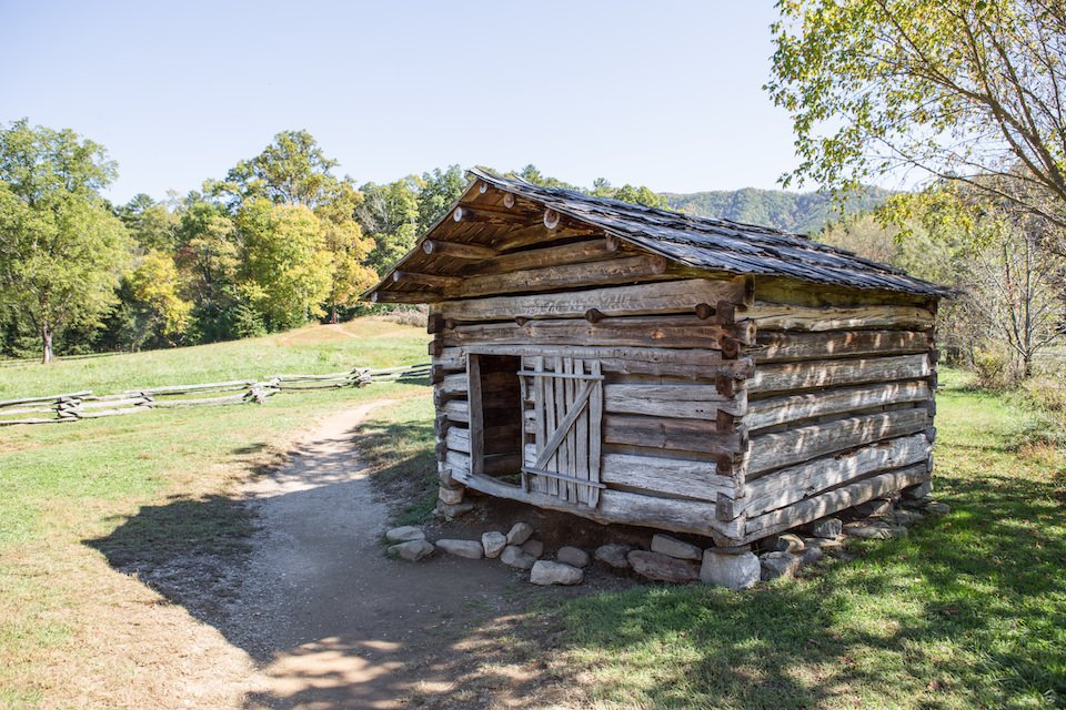 National Park Cades Cove - Dan Lawson Cabin & Historical Structures - Original Photo