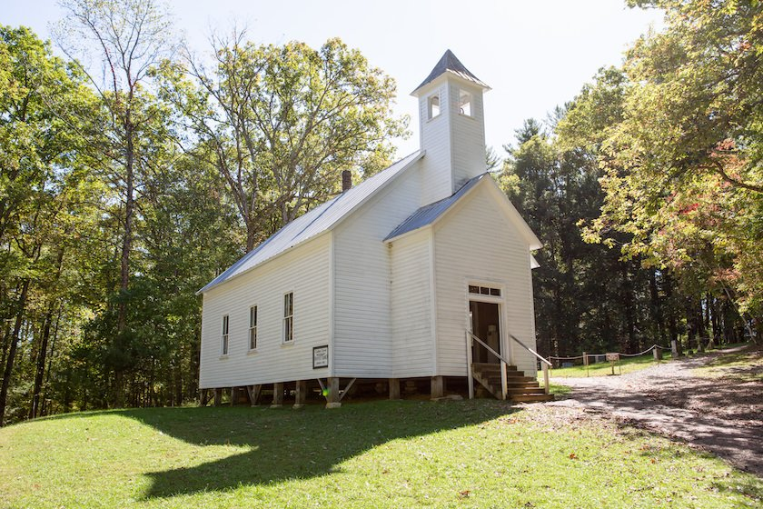 National Park Cades Cove - Missionary Baptist Church Historical Structure - Original Photo