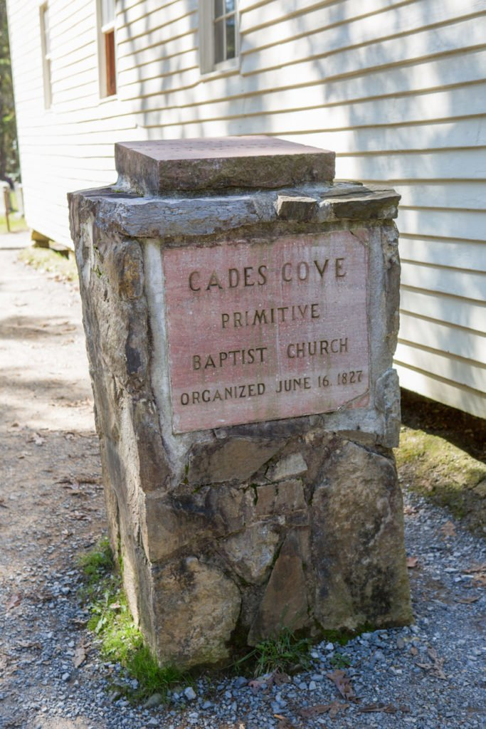 National Park Cades Cove - Primitive Baptist Church Historical Building - Original Photo
