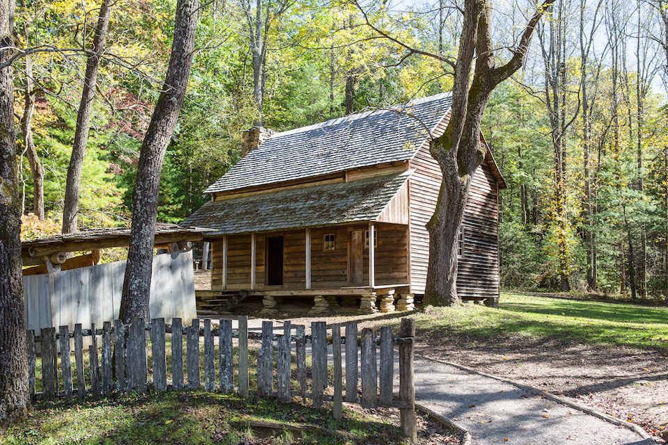 National Park Cades Cove - The Tipton Place Historical Structures - Original Photo
