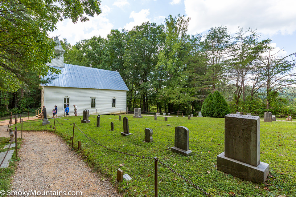 National Park Cades Cove - Methodist Church Historical Building - Original Photo