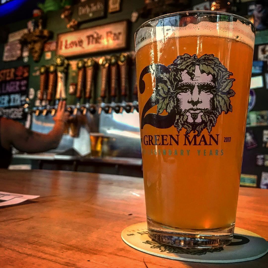 Pint of Beer on bar at Green Man Brewery