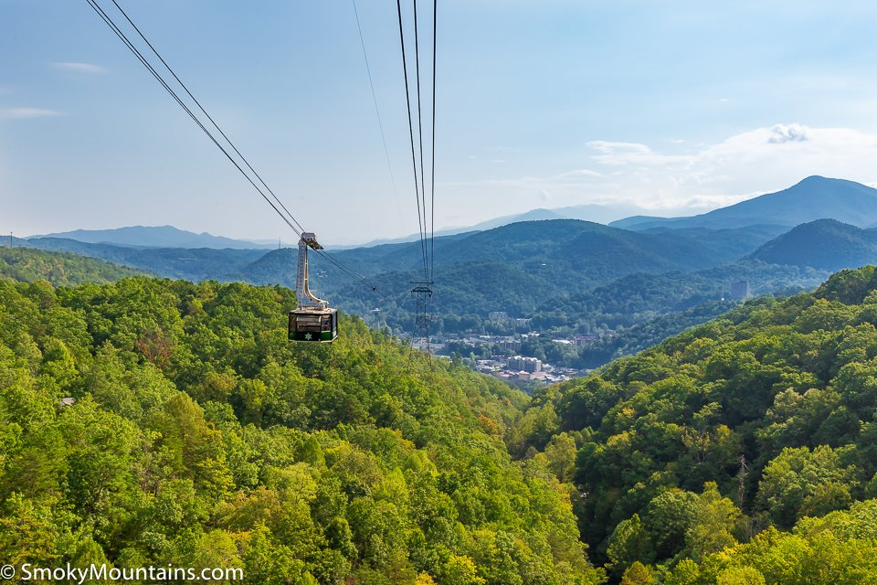 View of Ober Gatlinburg Aerial Tramway