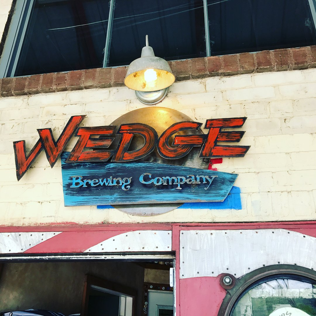 Outdoor Sign at Wedge Brewing Company Studios
