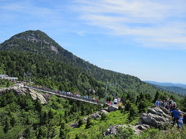 View of the Sky Bridge at Grandfather Mountain