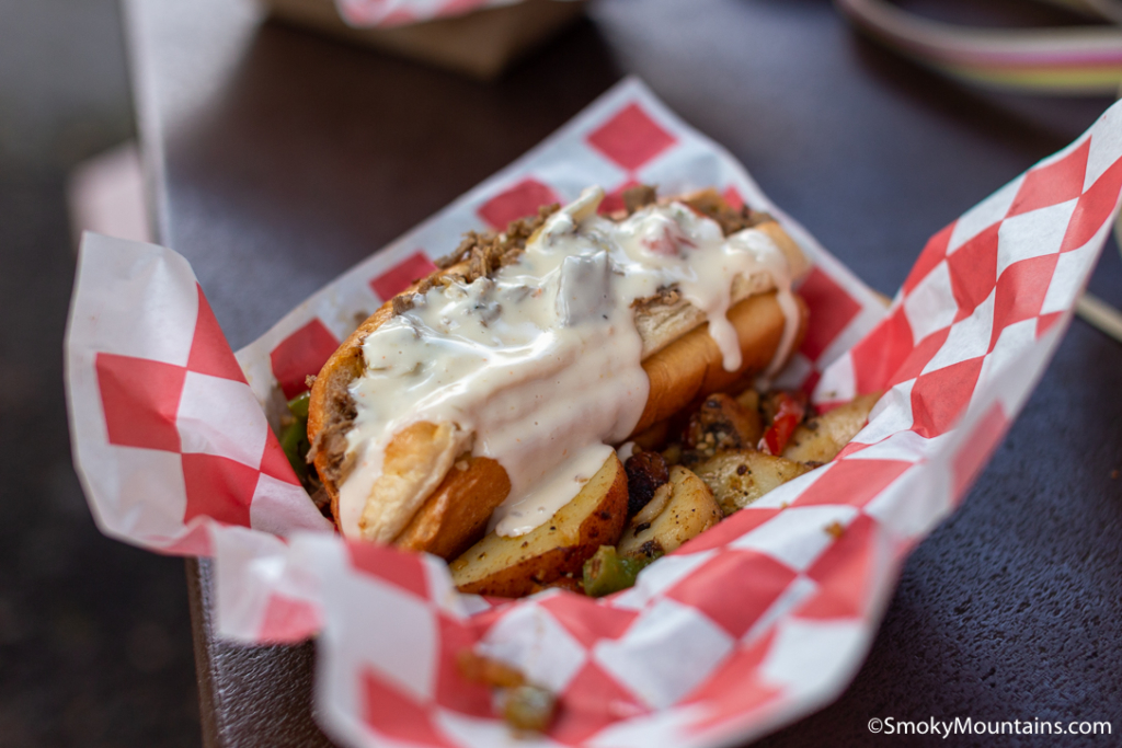 Dollywood Food - Market Square Big Skillet Steak Sandwiches - Original Photo