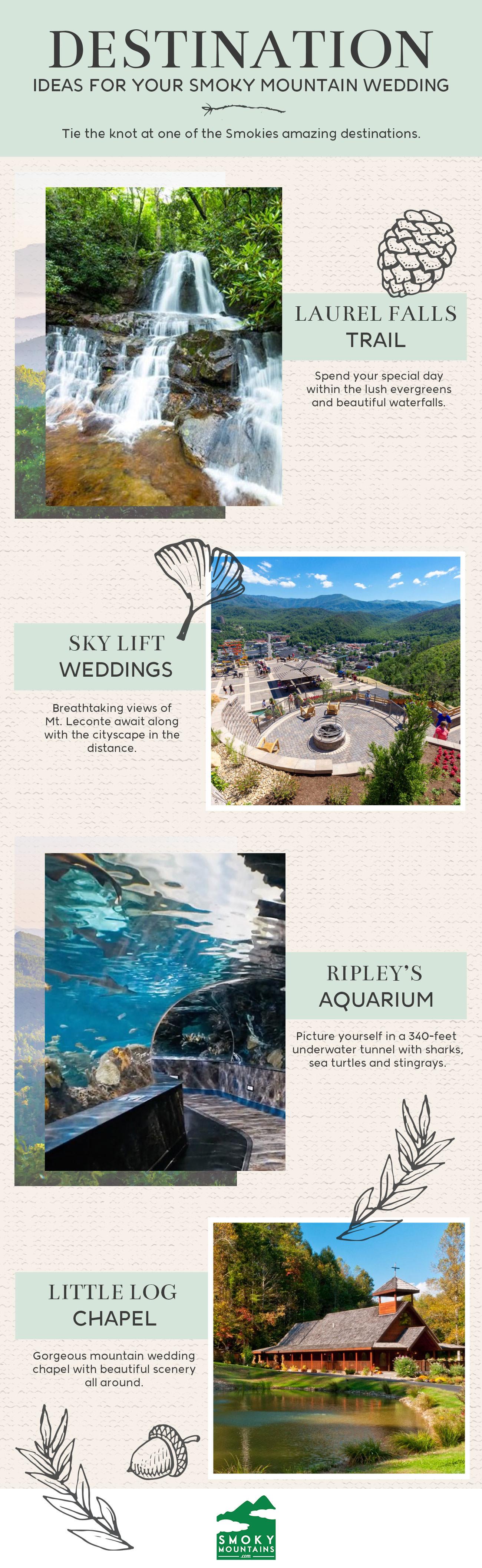 Smoky Mountain Wedding Destination Ideas