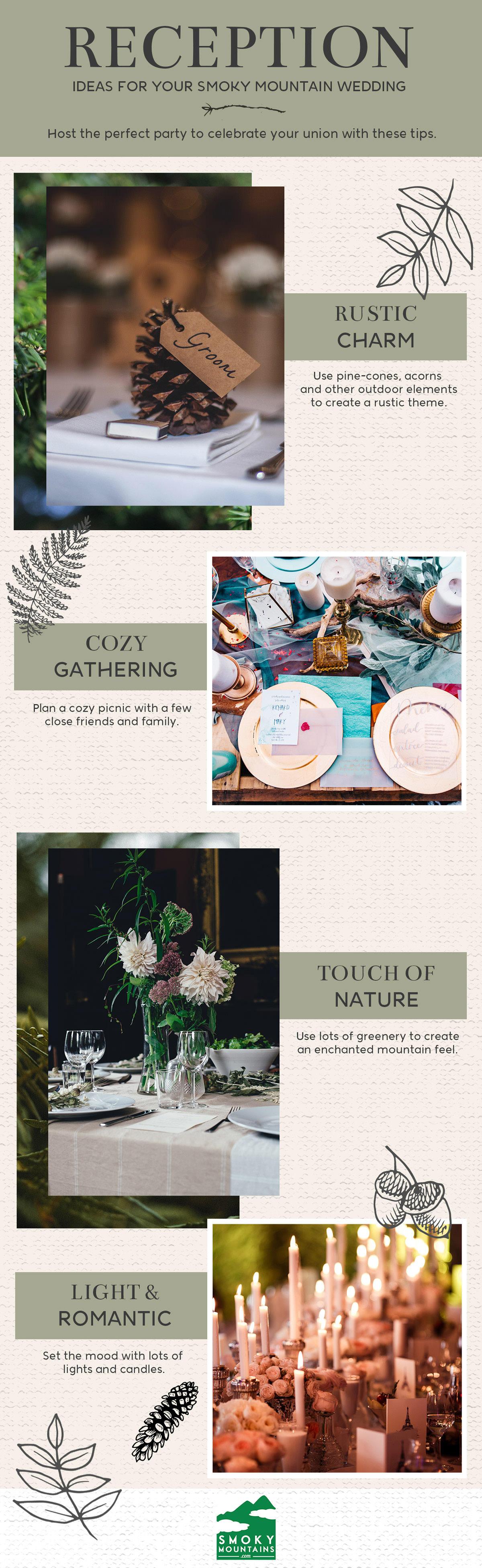 Smoky Mountain Wedding Reception Ideas