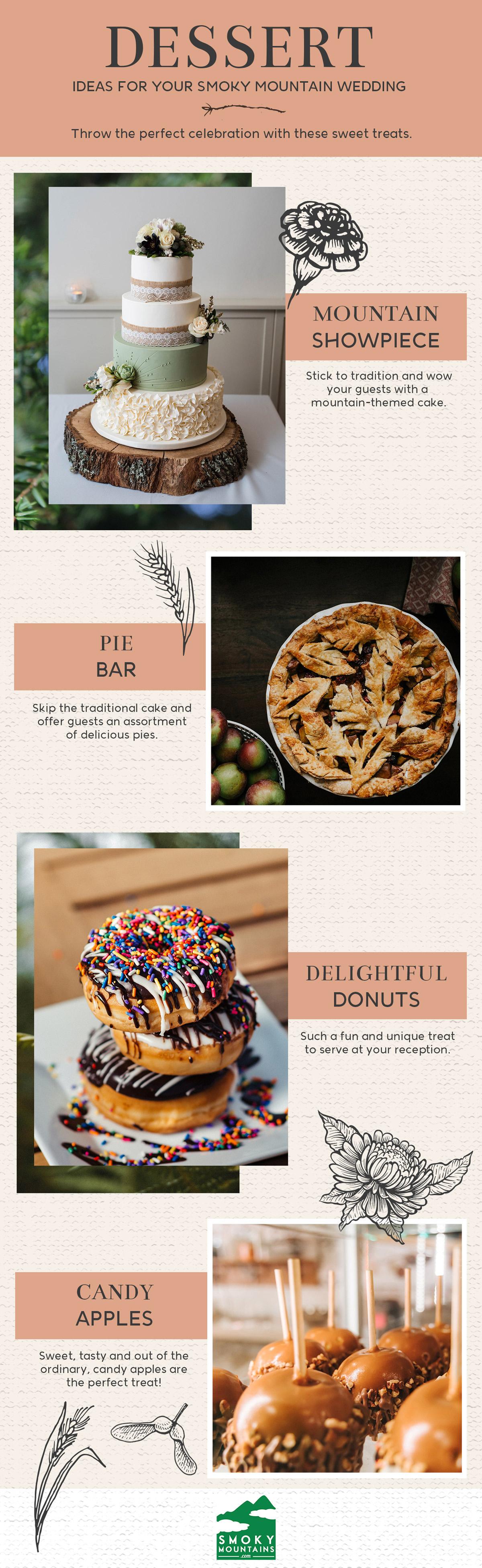 Smoky Mountain Wedding Dessert Ideas