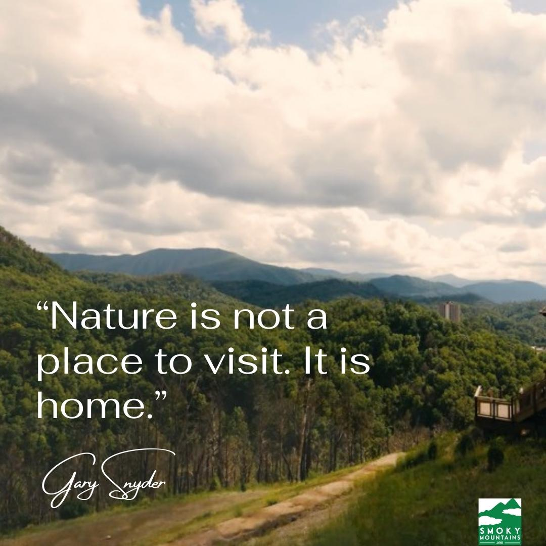 """""""nature is not a place to visit, it is home"""""""